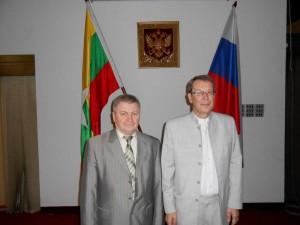 С послом РФ в Мьянме Поспеловым В.Б.