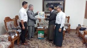 ТПП Мьянмы вручение подарка Вице-президенту