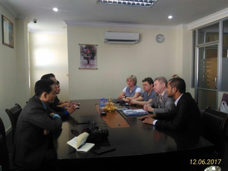 Встреча в ТПП Пномпень (Камбоджа)